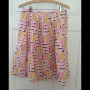 J. Crew Factory Print Skirt